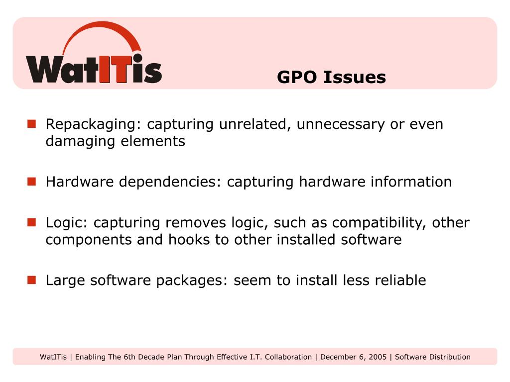 GPO Issues