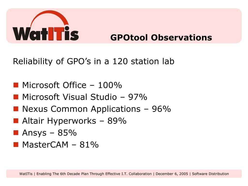 GPOtool Observations