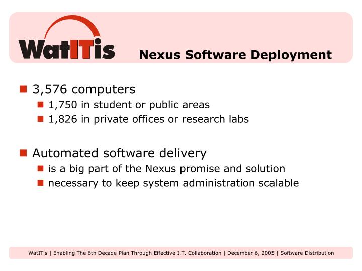 Nexus software deployment l.jpg