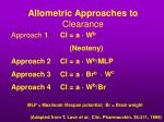 allometric approaches to clearance