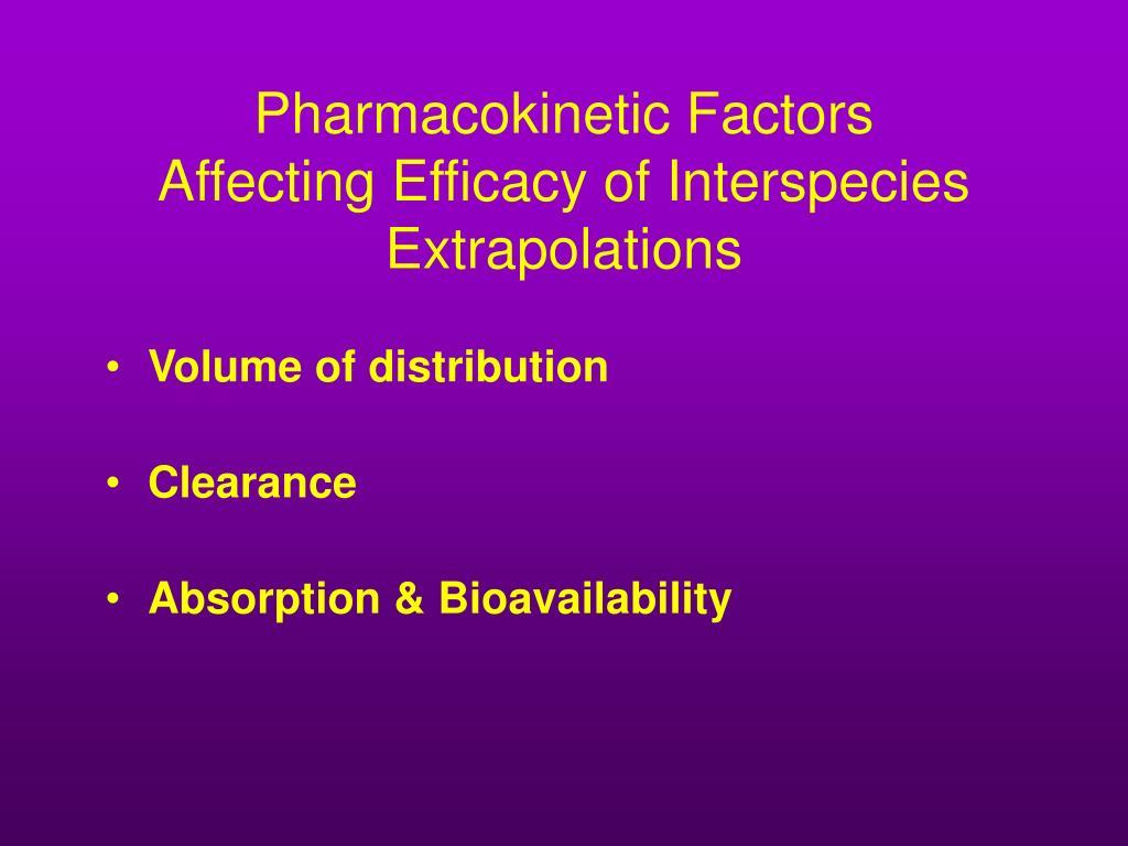Pharmacokinetic Factors