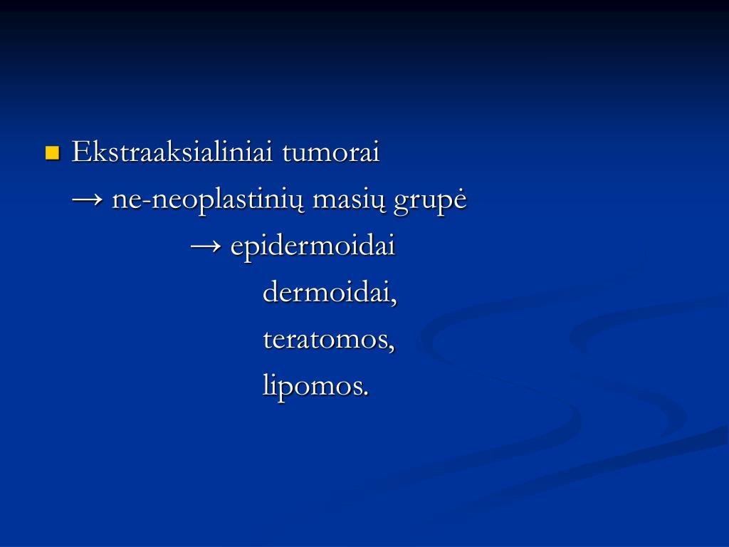 Ekstraaksialiniai tumorai