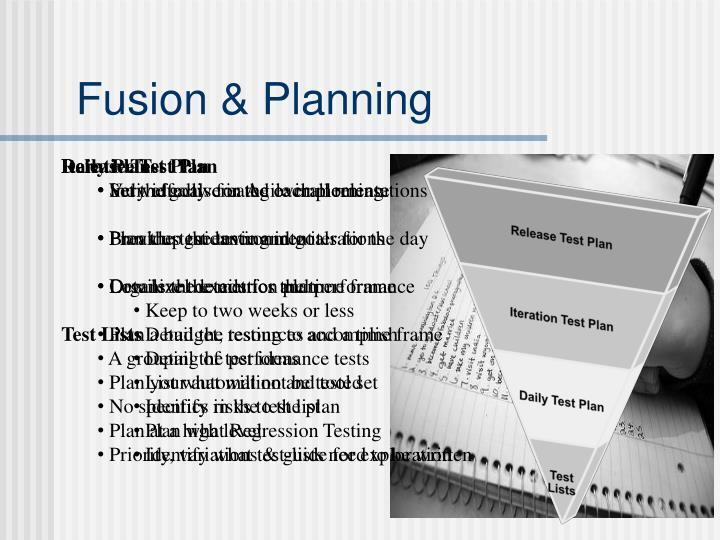 Fusion & Planning