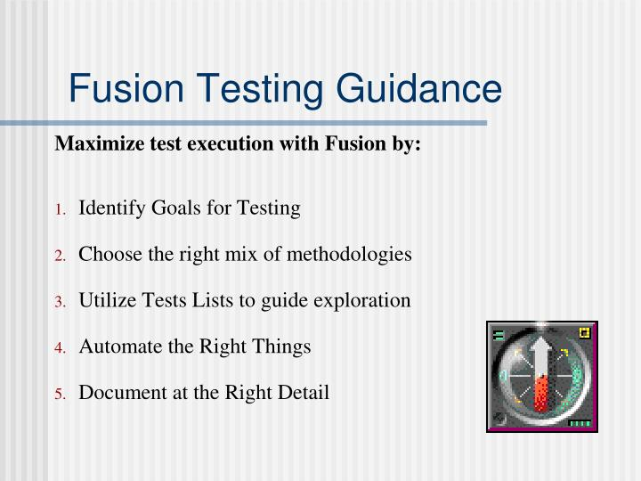 Fusion Testing Guidance