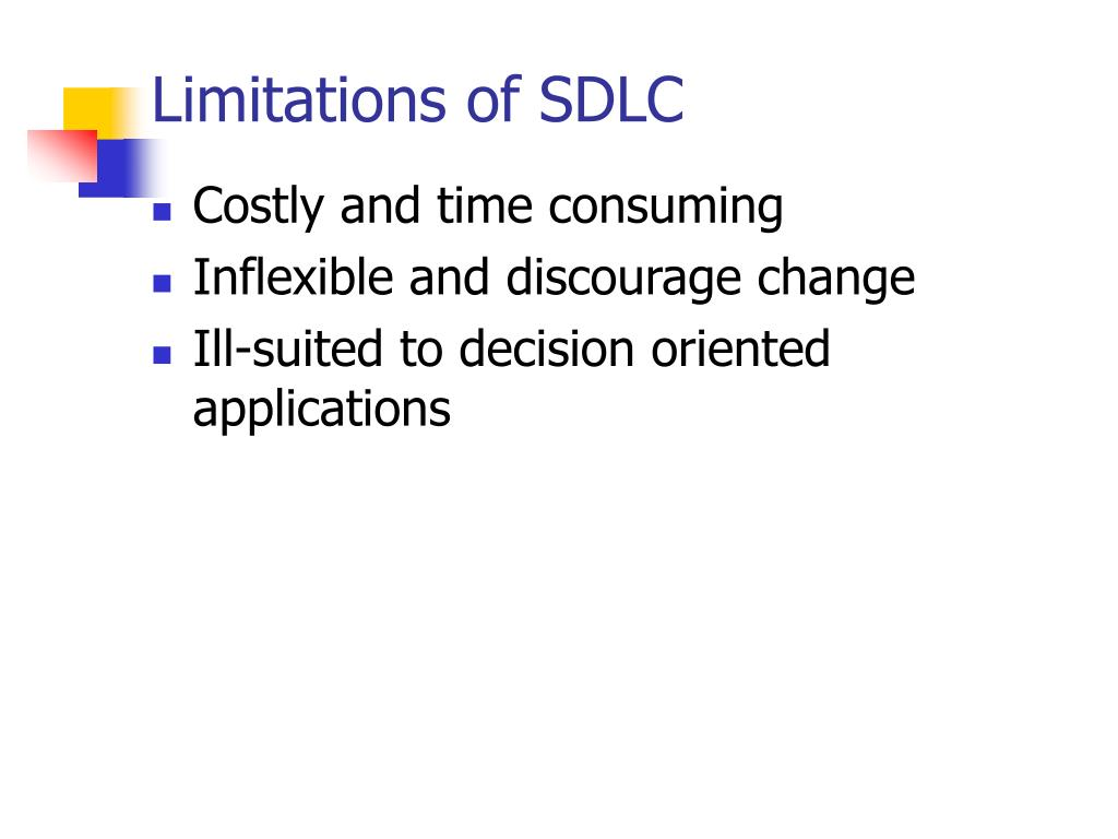 Limitations of SDLC