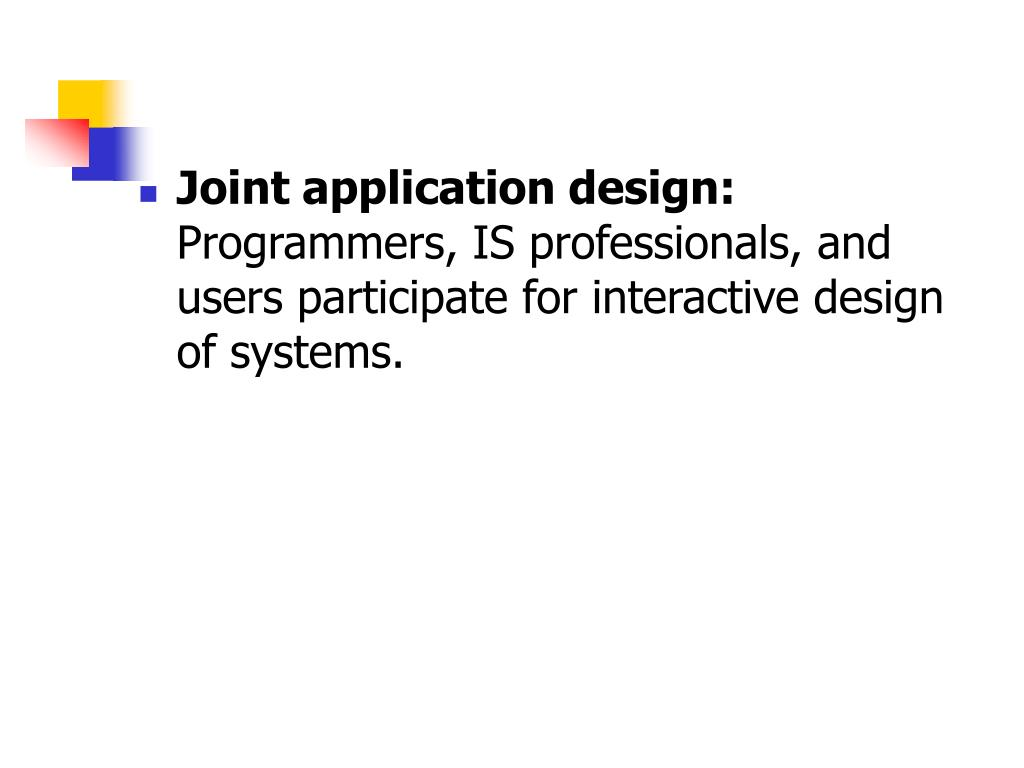 Joint application design: