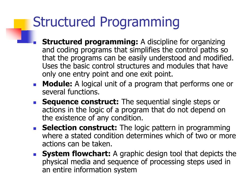 Structured Programming