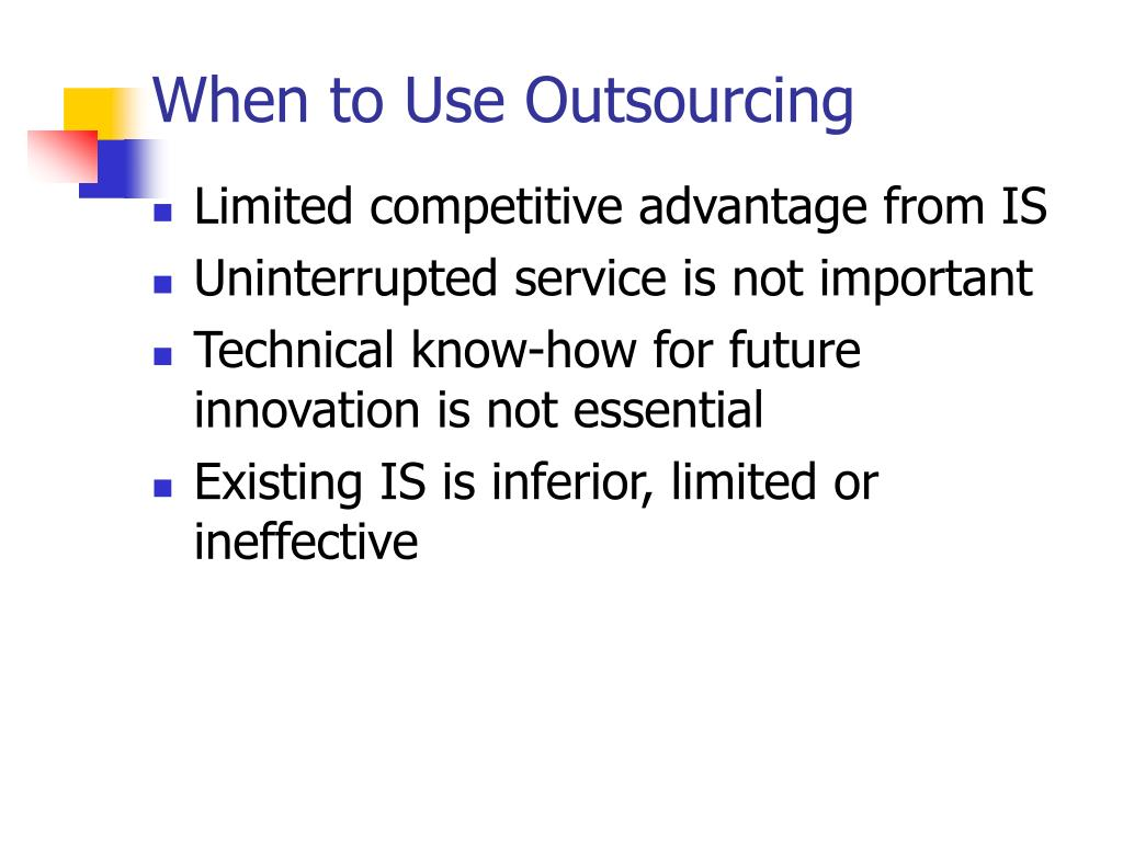 When to Use Outsourcing
