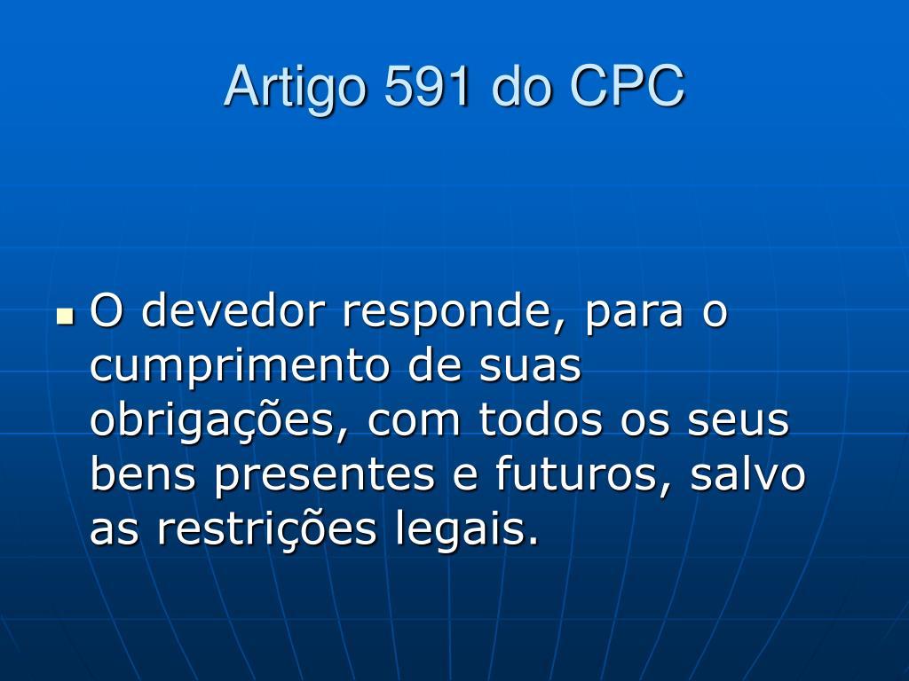 Artigo 591 do CPC