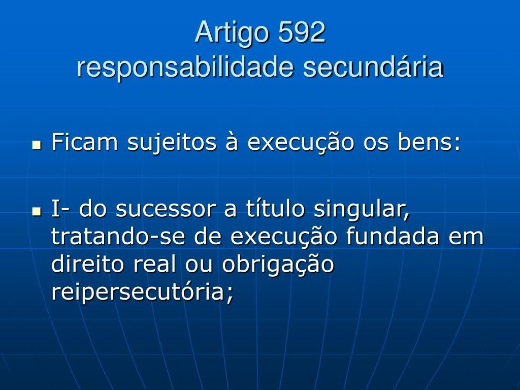 Artigo 592