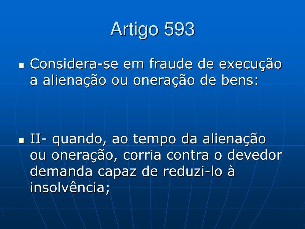 Artigo 593