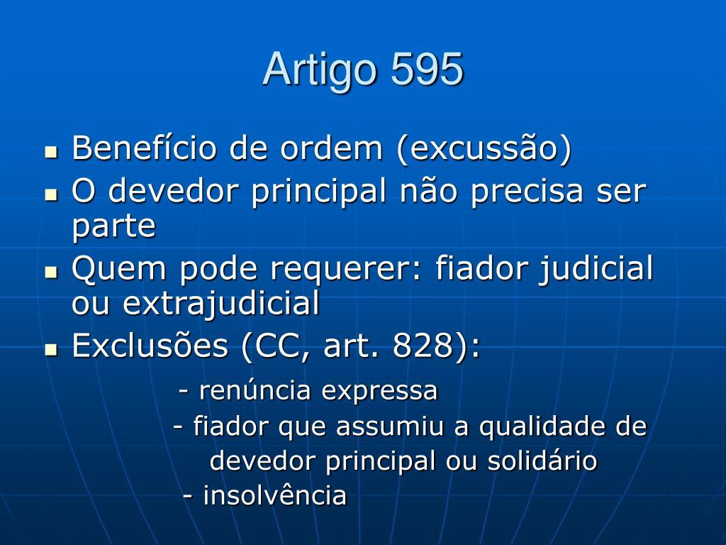 Artigo 595