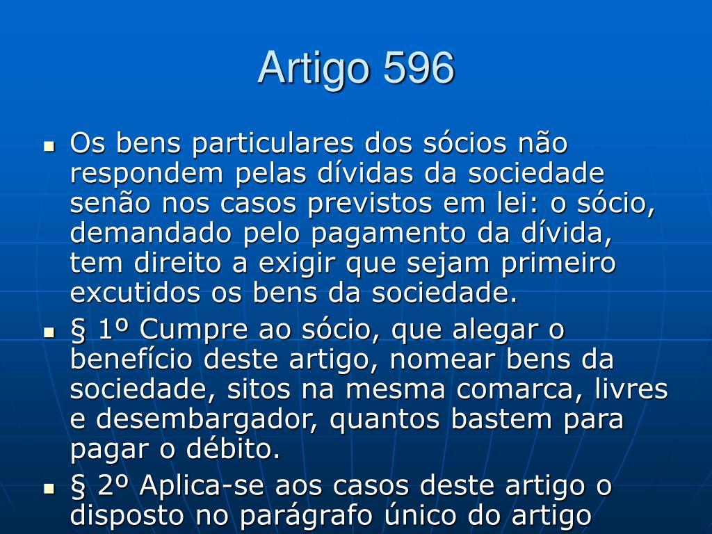 Artigo 596