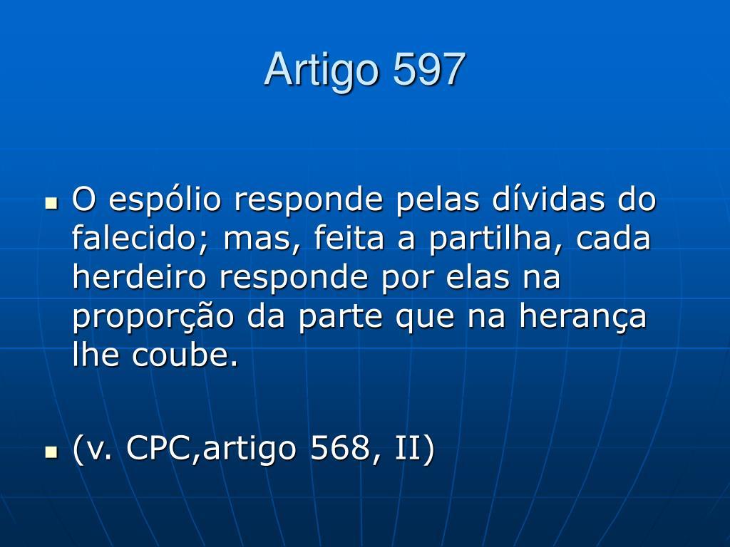 Artigo 597