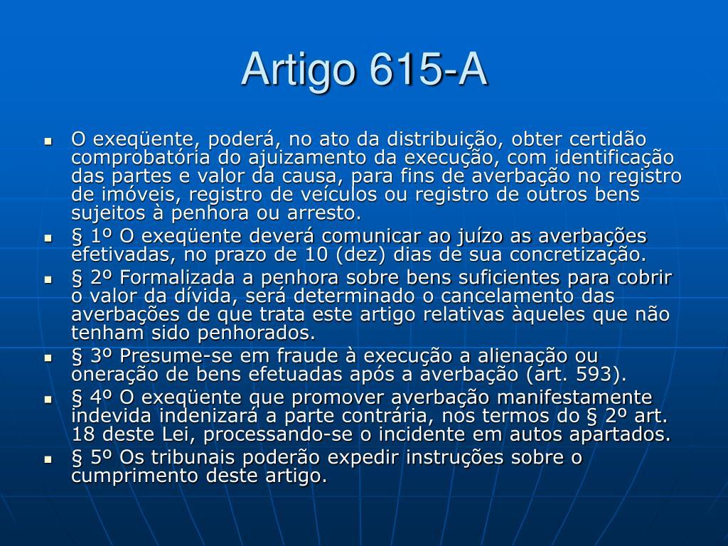 Artigo 615-A