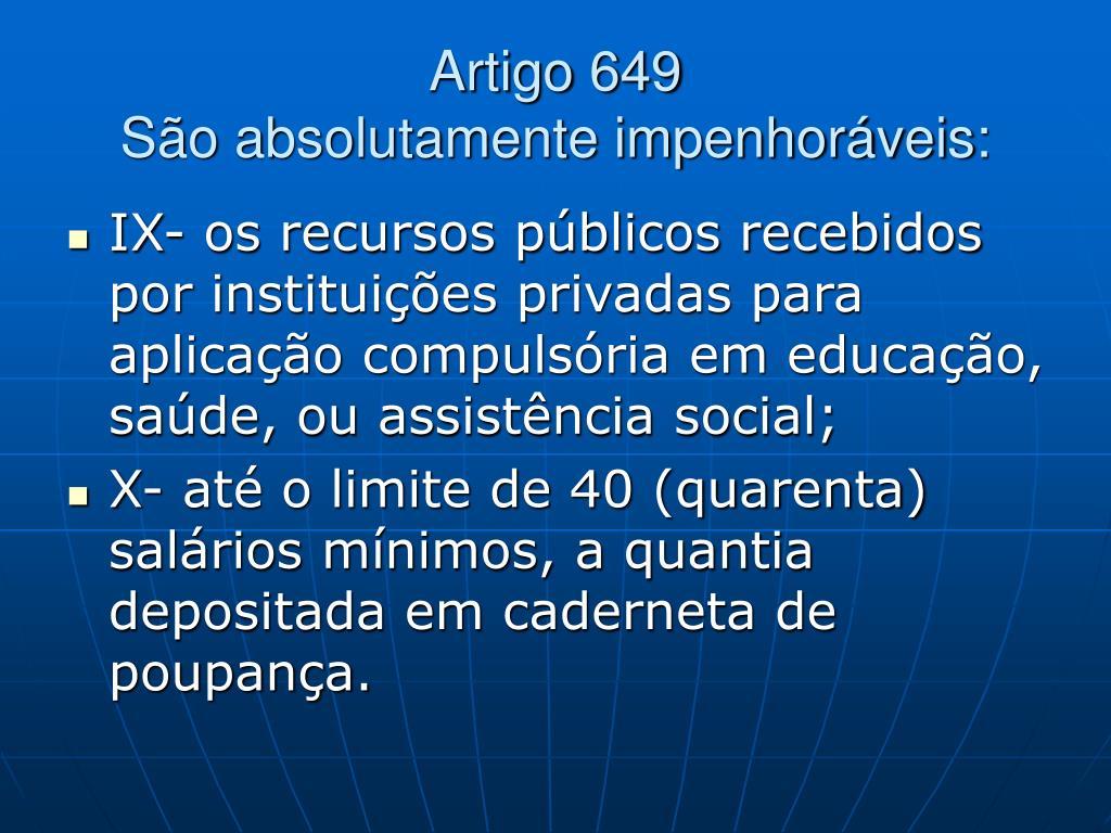 Artigo 649