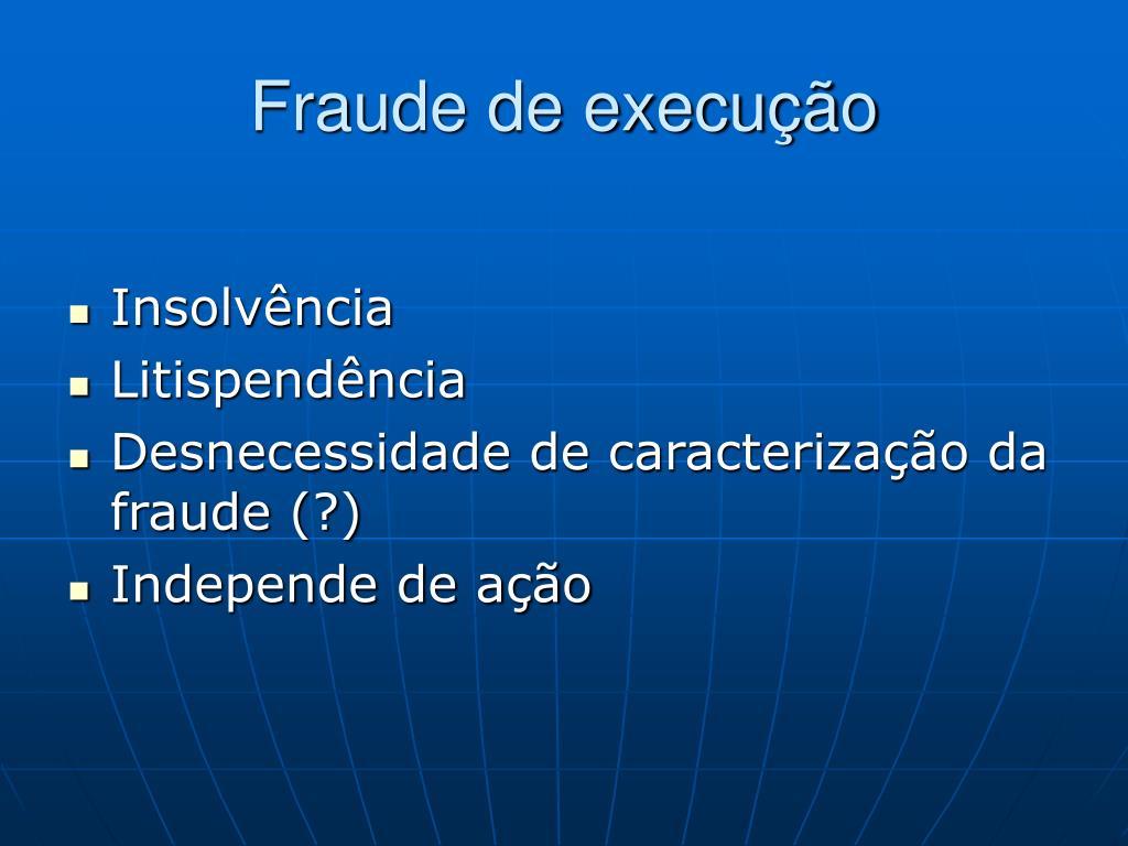 Fraude de execução