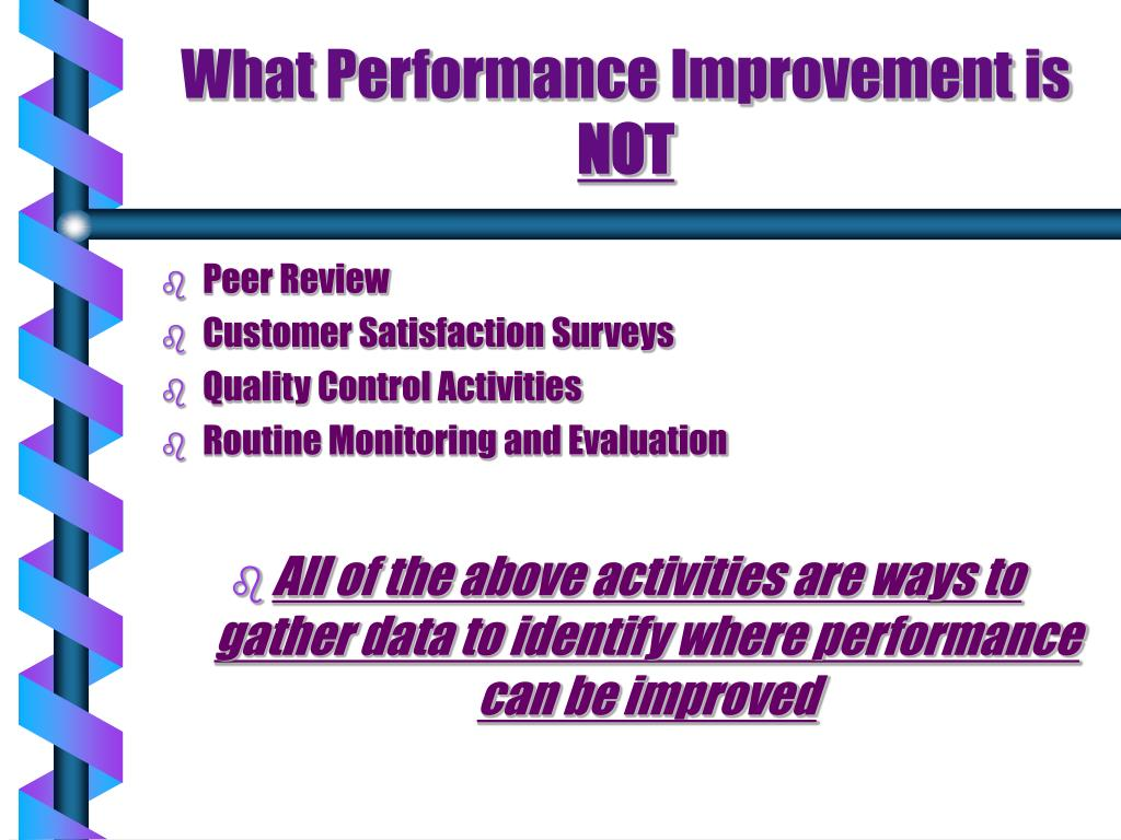What Performance Improvement is
