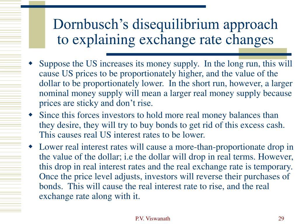 Dornbusch's disequilibrium approach to explaining exchange rate changes