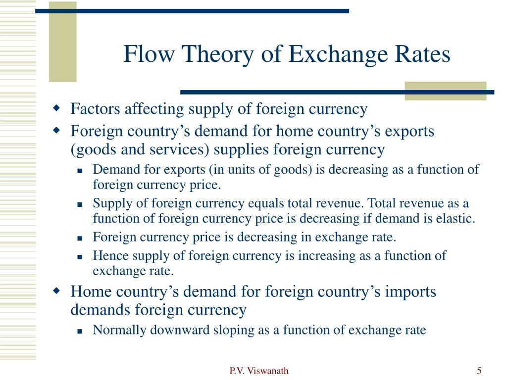 Flow Theory of Exchange Rates