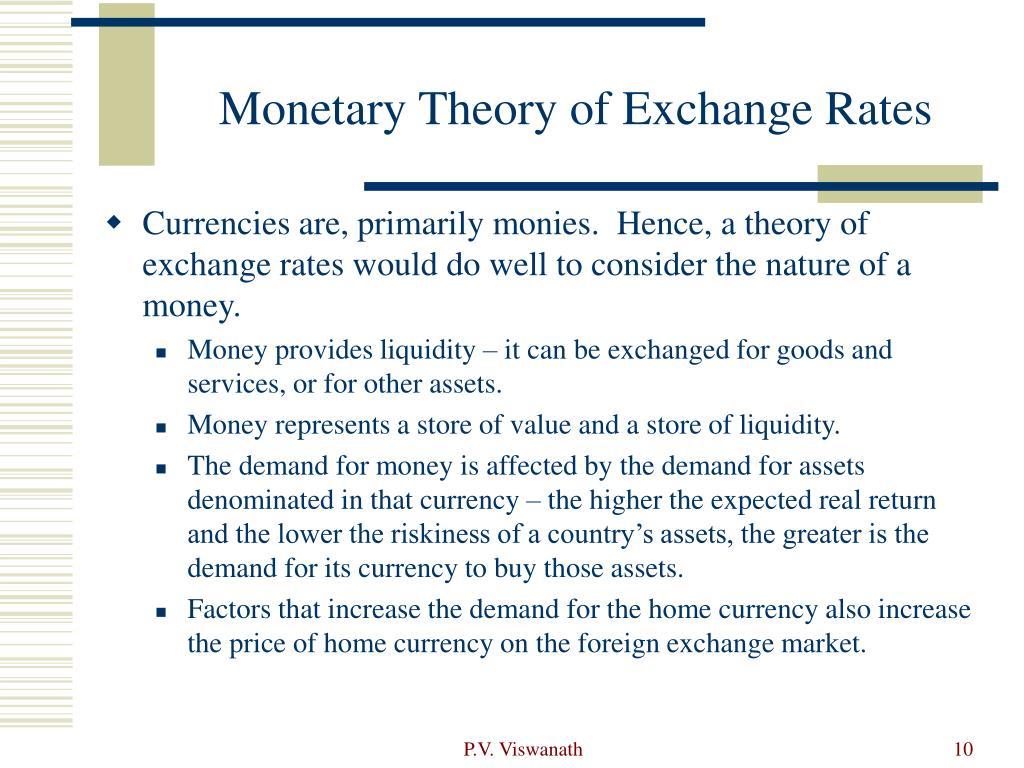 Monetary Theory of Exchange Rates
