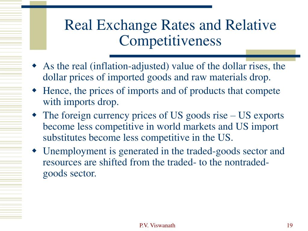 Real Exchange Rates and Relative Competitiveness