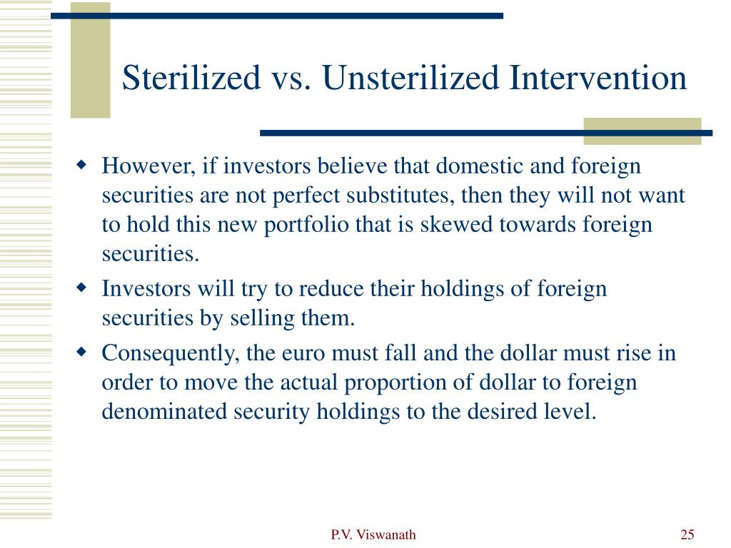 Sterilized vs. Unsterilized Intervention