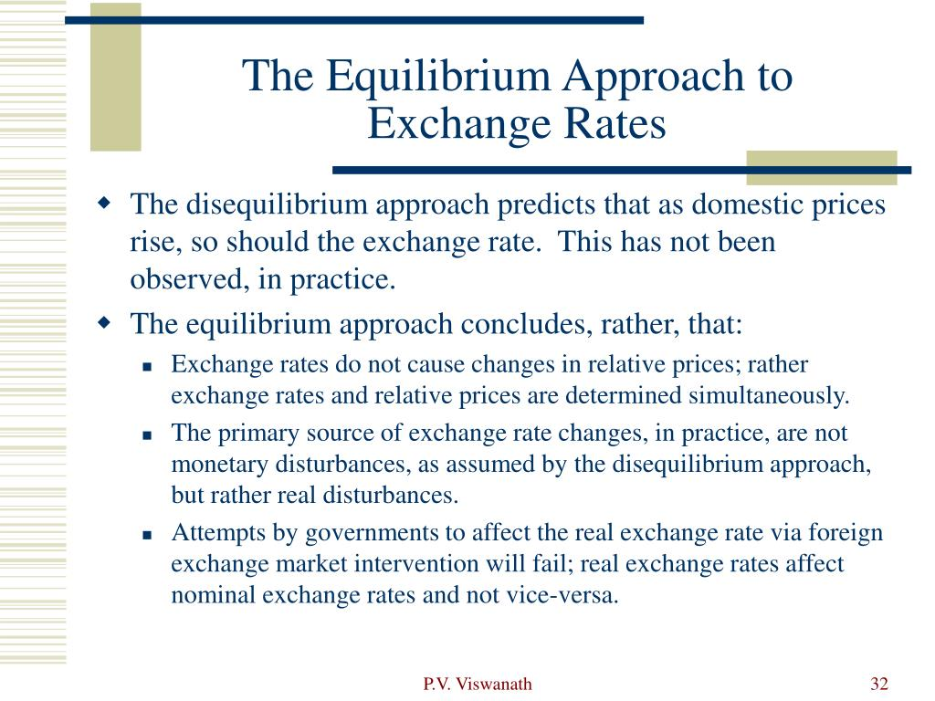 The Equilibrium Approach to Exchange Rates