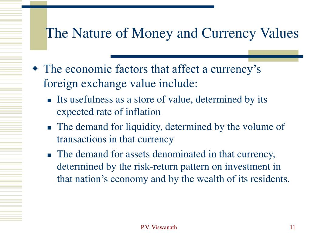 The Nature of Money and Currency Values
