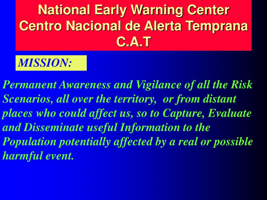 National Early Warning Center