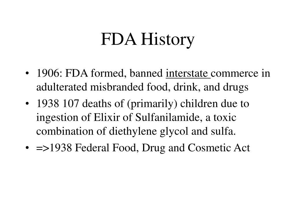 FDA History