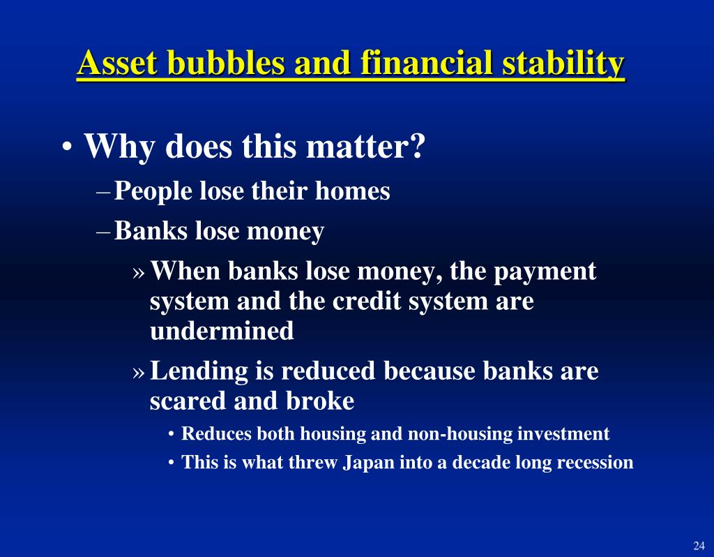 Asset bubbles and financial stability