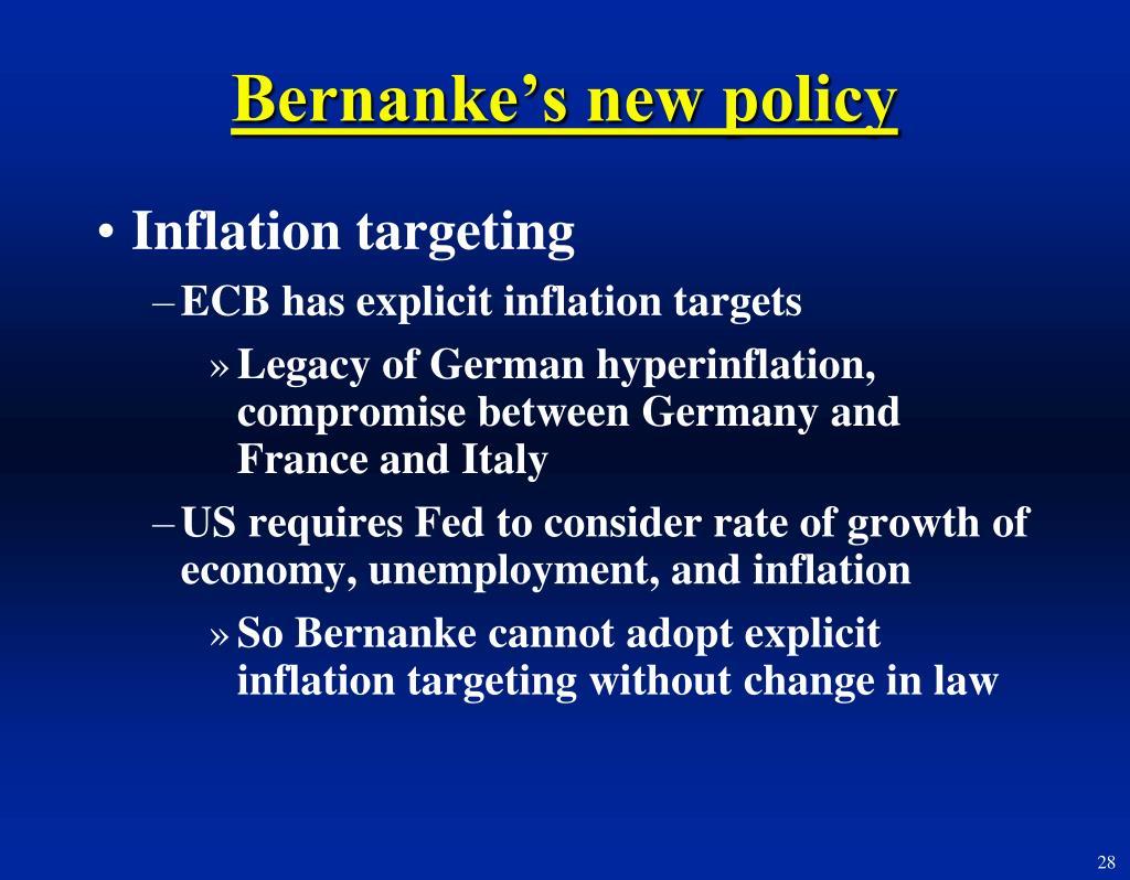 Bernanke's new policy