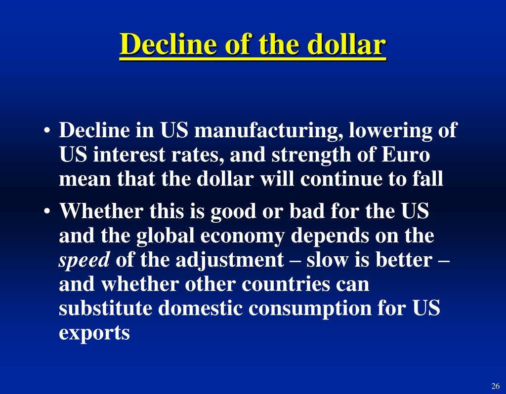 Decline of the dollar
