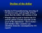 decline of the dollar26