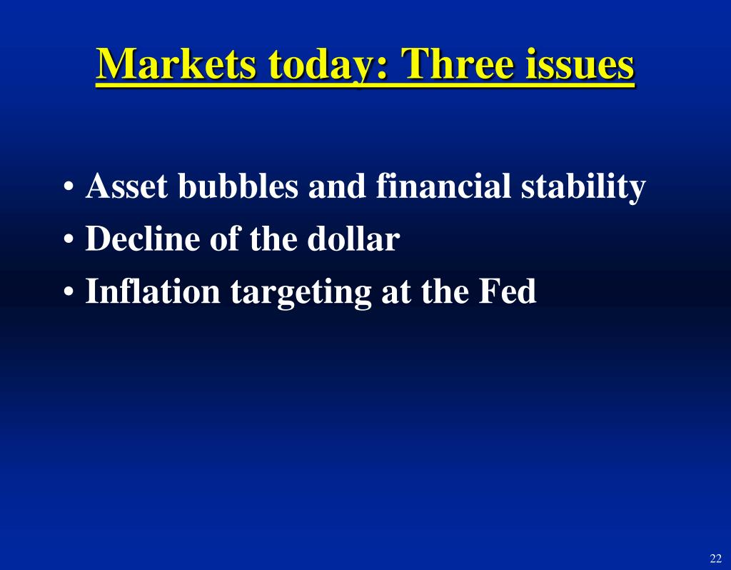 Markets today: Three issues
