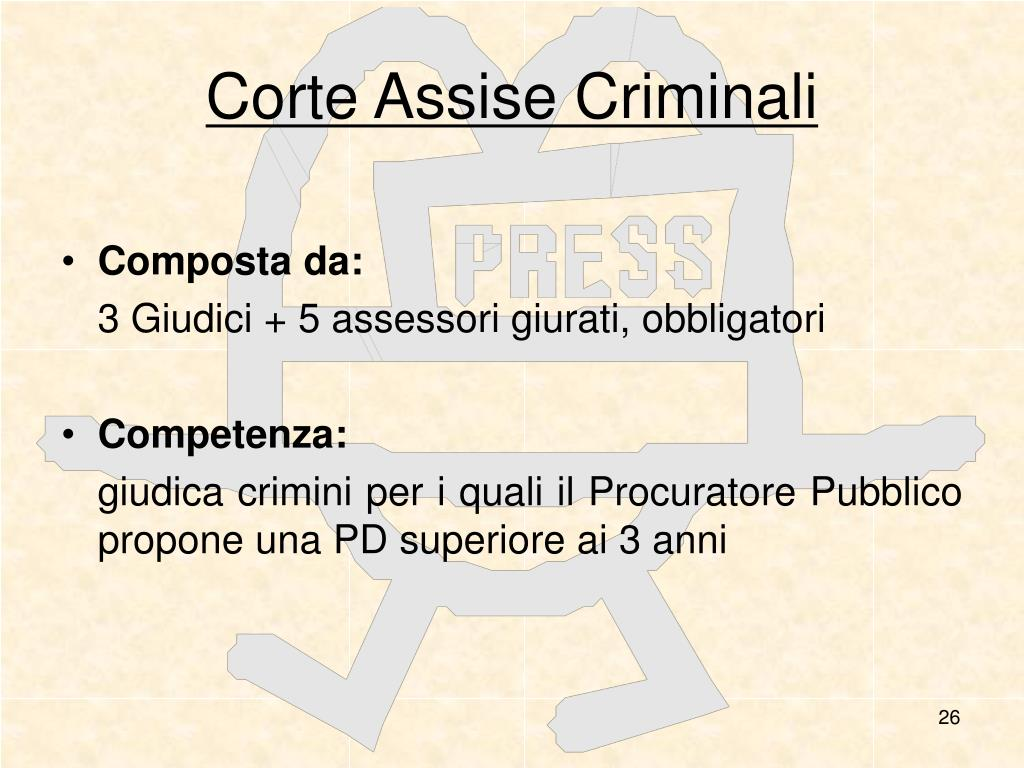 Corte Assise Criminali