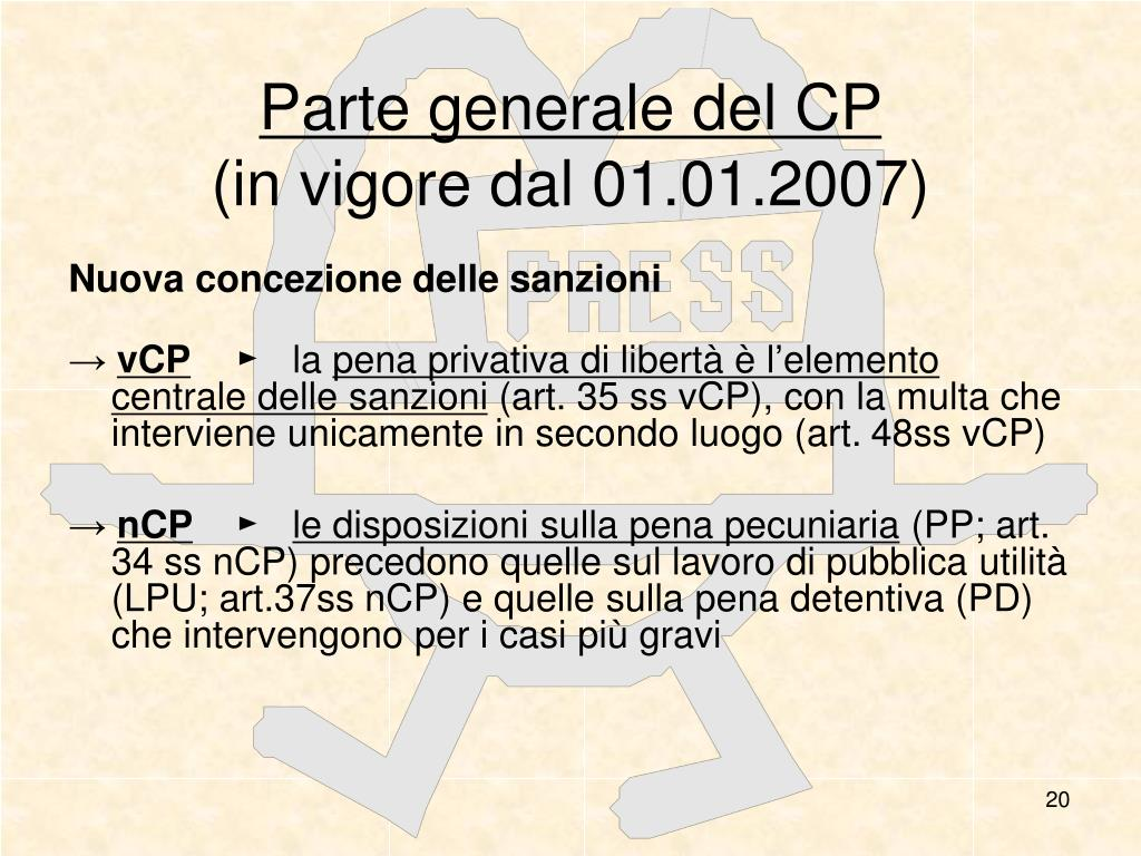 Parte generale del CP
