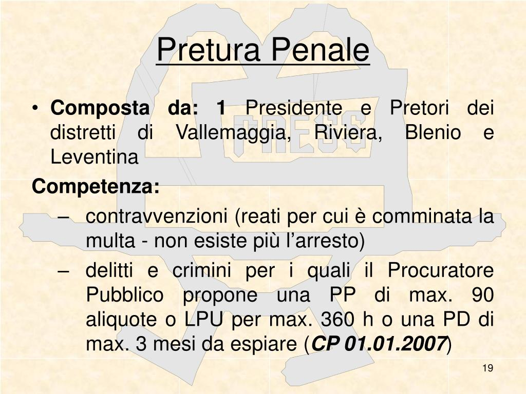 Pretura Penale