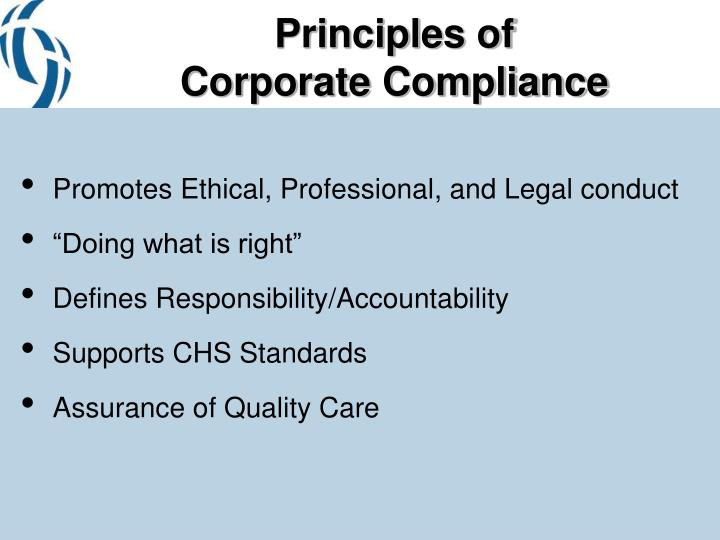 Principles of corporate compliance