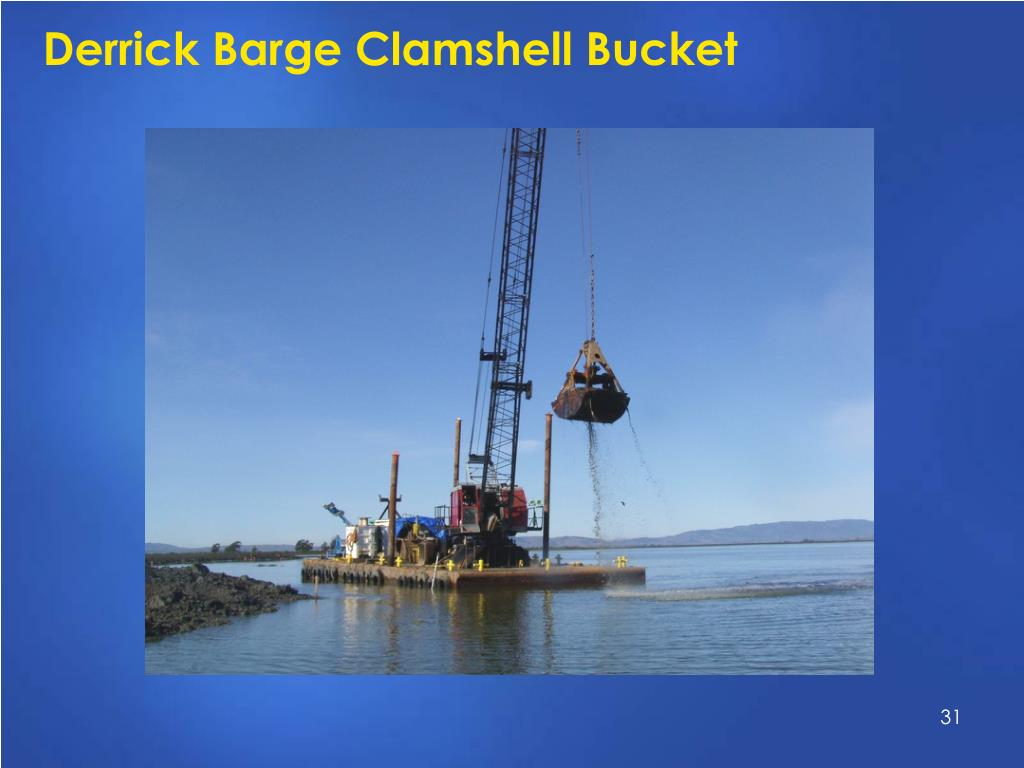 Derrick Barge Clamshell Bucket