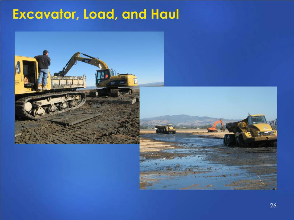 Excavator, Load, and Haul