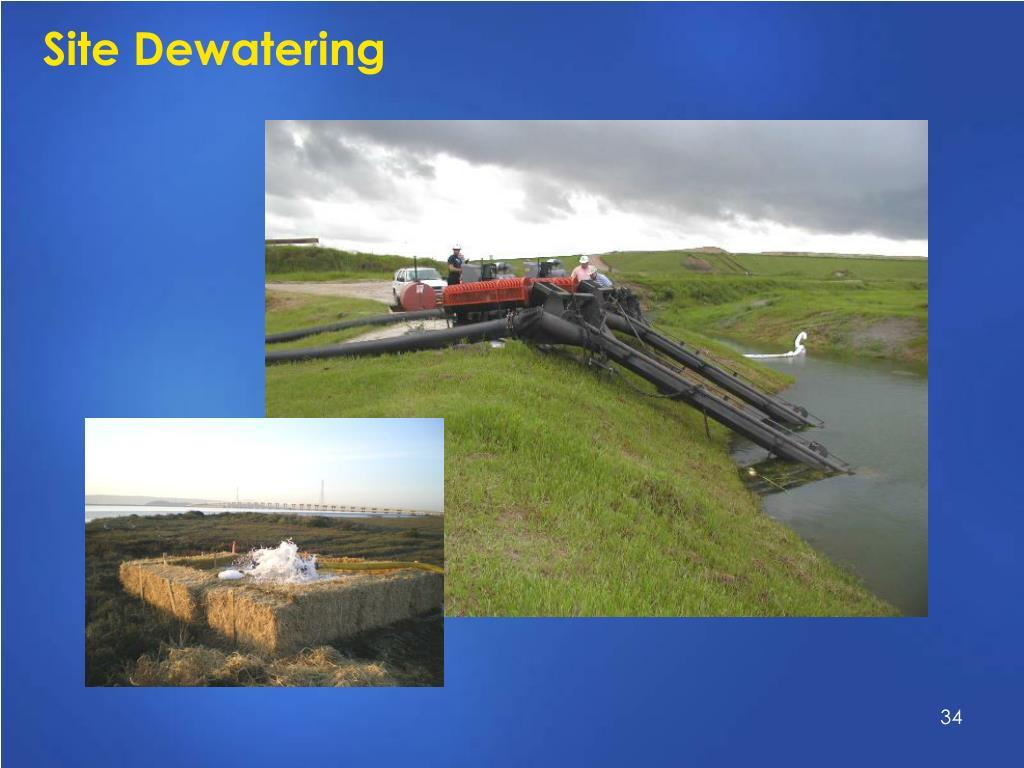 Site Dewatering