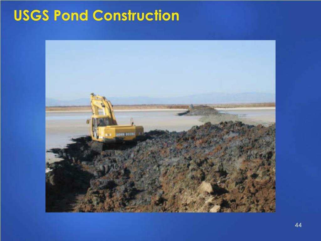 USGS Pond Construction