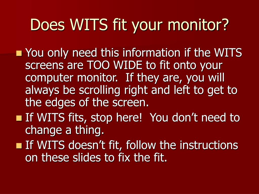 Does WITS fit your monitor?