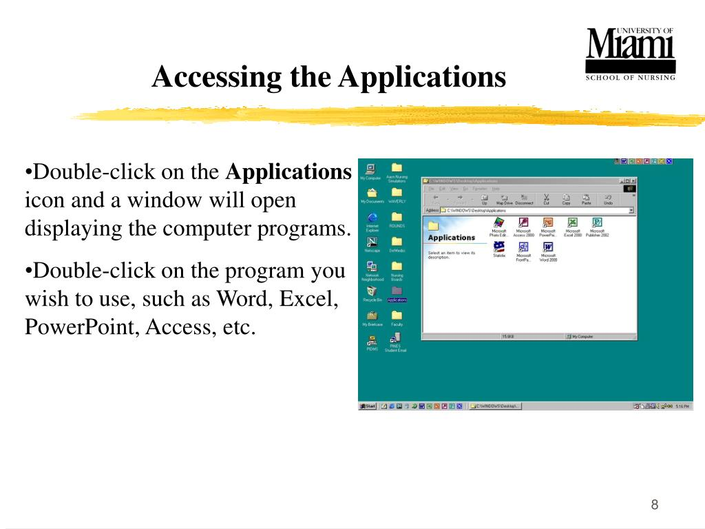 Accessing the Applications