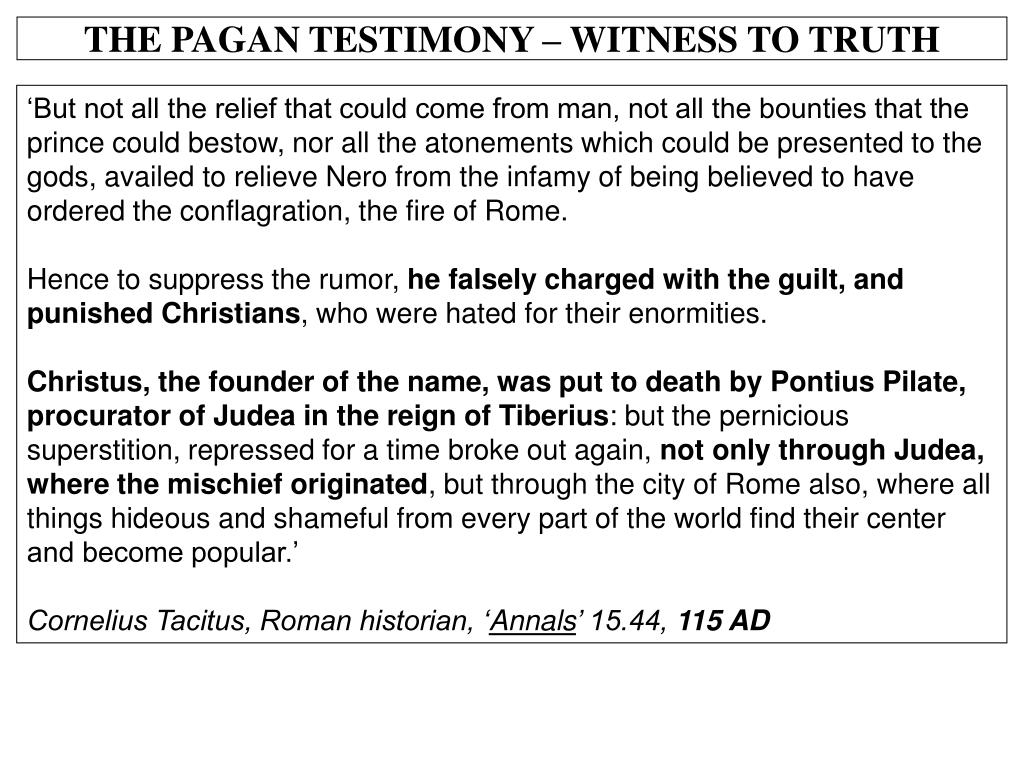 THE PAGAN TESTIMONY – WITNESS TO TRUTH