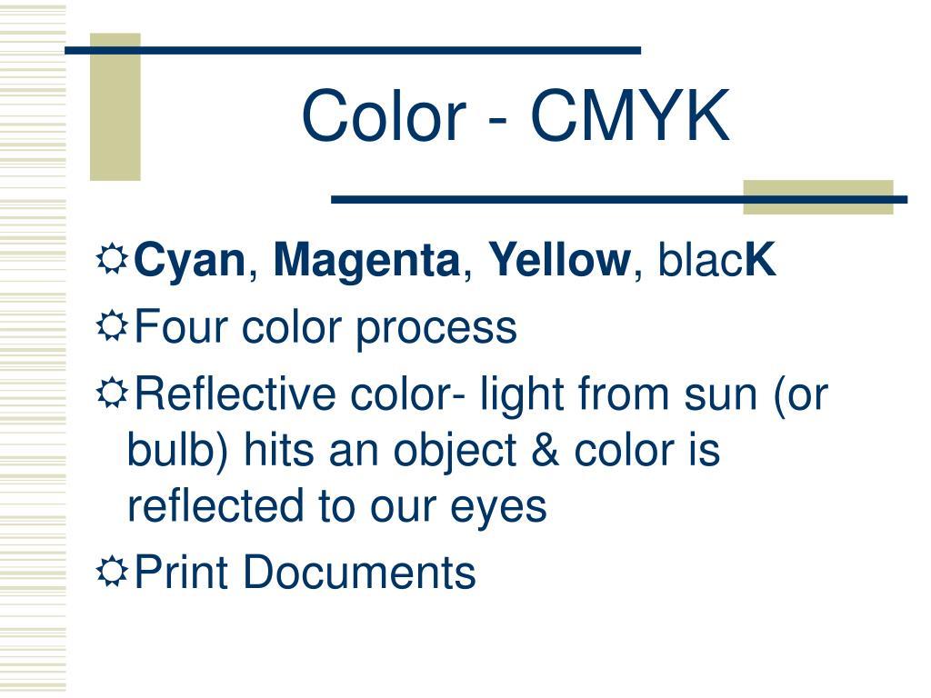 Color - CMYK