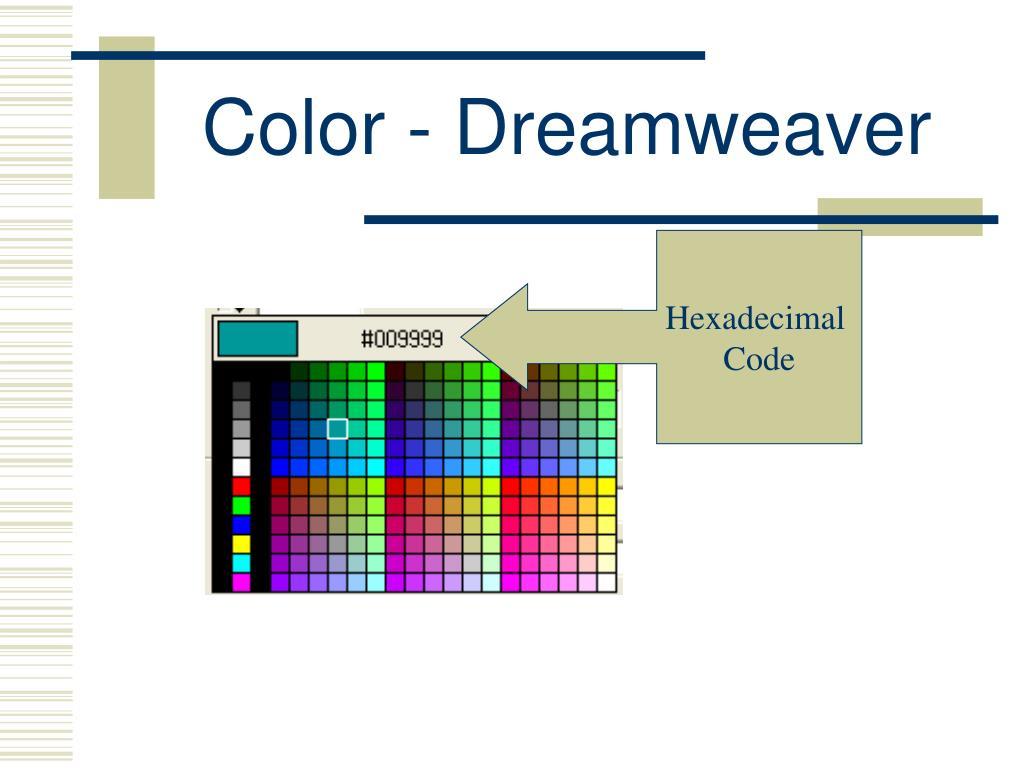 Color - Dreamweaver