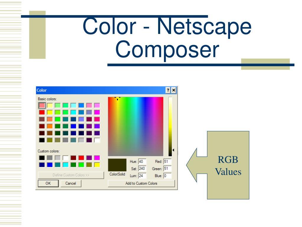 Color - Netscape Composer